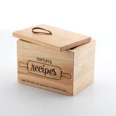 Mary & Martha Recipe Box | $58. Personalize Name