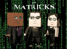 Matrix - Neo, Trinity And Morpheus Paper Toys - by Paper Pino - == - By Italian designer Paper Pino, here are Neo, Trinity And Morpheus, main characters from The Matrix.