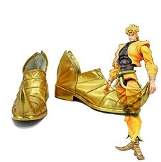 e6e10d8394 JOJOS BIZARRE ADVENTURE 3 Dio Brando Cosplay Shoes Golden Custom Made -- Be  sure to