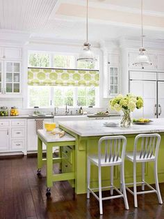 I love the pop of color! via Pinterest from bhg
