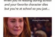 Me reading every single book