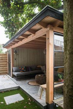 Buitenpracht Holzbauweise - Veranda mit Stahlfenster - Hochdruckgebiet ■ Exklusiver Wohn ..., #buitenpracht #exklusiver #gartenhaus #holzbauweise #stahlfenster #veranda,