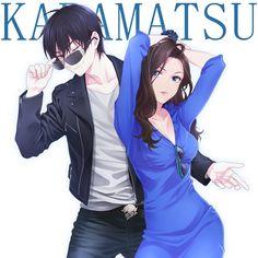 yande.re 349524 sample chimachi cleavage dress genderswap karako_(osomatsu-san) matsuno_karamatsu megane osomatsu-san.jpg (1200×1200)