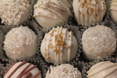 New Year's Eve / wedding / winter cake balls