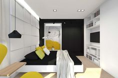 Best Interior Home Design Wall Design Ideas For Bedroom ~ http://www.lookmyhomes.com/awesome-home-interior-design-ideas-32-photos-by-tarnowskie-gory/