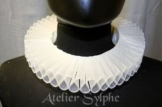 White fantasy ruffle neck elizabethan collar with delicate