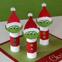 Kids Craft Ideas Three-eyed Alien Elves for Christmas Party