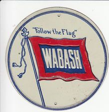 OLD WABASH RAILROAD METAL TRAIN SIGN