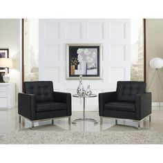 Loft 3 Piece Sofa Set in Black