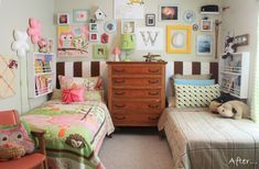 Noah and Bellas shared bedroom, This is the bedroom that our 4 year old daughter… Sibling Bedroom, Sister Bedroom, Boy Girl Bedroom, Girl Room, Boy And Girl Shared Room, Ideas Habitaciones, 2 Baby, Shared Bedrooms, Main Colors