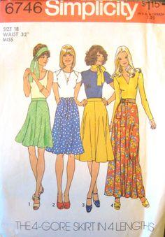Vintage Sewing Pattern  Simplicity 6746  1974 by JujuGirlVintage