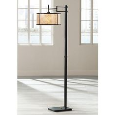Uttermost Henson Chocolate Bronze Swing Arm Floor Lamp