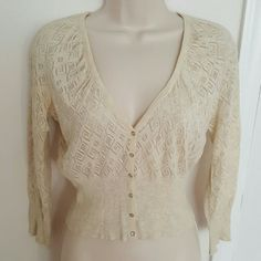 Guess Sheer Cardigan NWOT Cute Cardigan from Guess Tag says size Medium but fits more like small Guess Tops