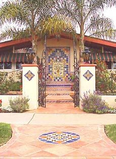 Spanish design home using Mexican tile and wrought iron accents by kristiblackdesigns.com