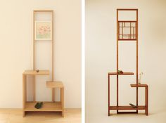 okidoco(オキドコ) / 種村建具木工所 Interior Design Elements, Decor Interior Design, Diy Projects Made From Wood, Display Shelves, Shelving, Wood Furniture, Furniture Design, Japanese Furniture, Home And Living