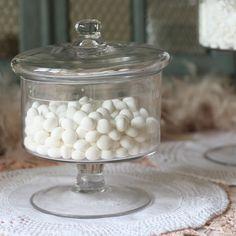 Footed Glass Sweet Jar