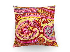 Paisley pillow, Decorative pillow, cushion cover, floral  print fabric, throw pillow, flowers, home accessories, home decor, boho cushion