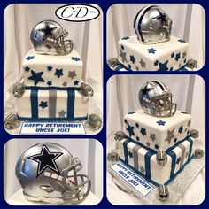 Dallas Cowboys Themed Birthday Cake Cowboy