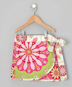 Take a look at this Pink & Green Gypsy 2-Way Wrap Skirt - Toddler & Girls by Sew Me a Memory on #zulily today!