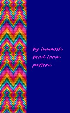 chevron bead loom pattern90 by Humosh on Etsy