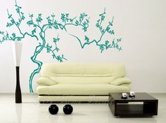 Vinyl Wall Decals Stickers  Japanese tree