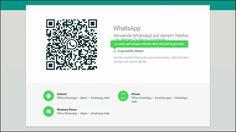 Datenaustausch von Smartphone und Computer via WhatsApp QR-Code.