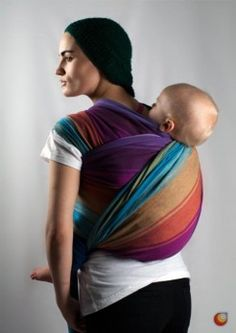 another lovely rainbow wrap from paxbaby. jumpsac baby - pandora - Blue Weft  I want this!!