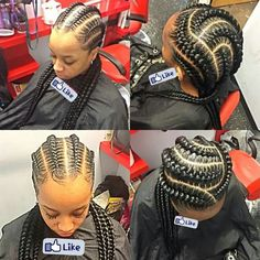 That and of braids - Best Cornrow Hairstyles Big Braids, Girls Braids, Crown Braids, Ghana Braids, Jumbo Braids, Plaits, African Braids Hairstyles, Braided Hairstyles, Protective Hairstyles