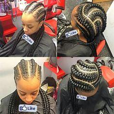 That and of braids - Best Cornrow Hairstyles Ghana Braid Styles, Ghana Braids, Big Braids, Girls Braids, Crown Braids, Jumbo Braids, Plaits, African Braids Hairstyles, Braided Hairstyles
