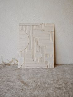 Shapes at Play: Sand 01 — B Y R D Collage Making, Bamboo Cutting Board, Repurposed, Shapes, Abstract, Inspiration, Vintage, Play