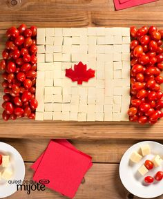Hosting a party for Canada's birthday? Our Canada Day Cheese Board is just the thing to get the party started! Canadian Living Recipes, Canadian Food, Canadian Flags, Canada Day Fireworks, Canada Day Crafts, Canada Birthday, American Flag Crafts, Canada Day Party, Party Food Platters