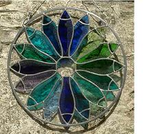 stained glass fish barrel - by Julie Mills