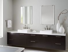 Tech Lighting 700BCRAEMRR Rae Mirror Kit - Tech Lighting Bath Collection - special co-extruded remote phosphor LED channel hugs a high-quality mirror in 3 mirror configurations.