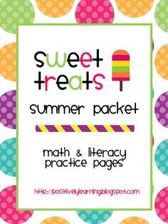 Here's a sweet activity packet to keep your students' busy over the summer break! There are 10 math and 10 literacy pages, plus a themed reading lo...