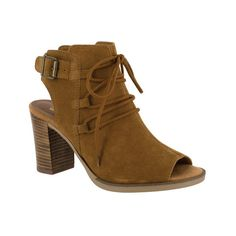 Women's Bella Vita Pru-Italy Open Toe Bootie ($115) ❤ liked on Polyvore featuring shoes, boots, ankle booties, casual, heels, high heel ankle boots, heeled ankle boots, open toe heel booties, stacked heel booties and lace-up booties