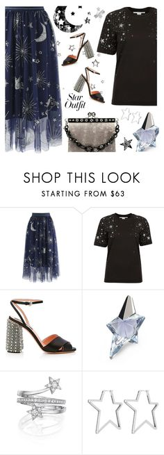 """Twinkle, Twinkle: Star Outfits"" by annbaker ❤ liked on Polyvore featuring Chicwish, STELLA McCARTNEY, Rochas, Thierry Mugler, Penny Preville, Henri Bendel and StarOutfits"