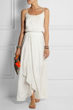 Vix | Gisele embroidered jersey maxi dress | NET-A-PORTER.COM