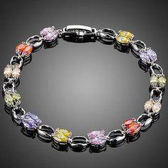 Artistic Toggle Clasp Cubic Zirconia Bracelet  #fashion #earrings #khaista #womensfashion #women #necklace #dresses #jewelry #rings