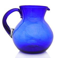 Cobalt Blue Glass Pitcher - Mexico