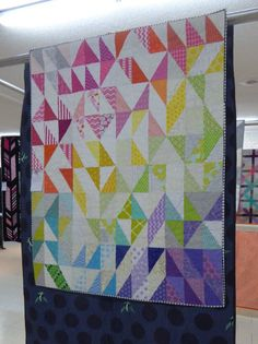Modern half square rectangles quilt | Sheila of the Saskatoon Modern Quilt Guild