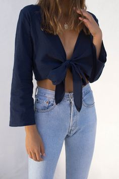 style addict - cleo top / navy http://www.styleaddict.com.au/