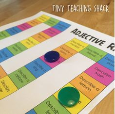Adjectives game - adjective practice