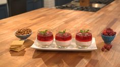 Raspberry Cheesecake Dessert Parfait ~ Recipe