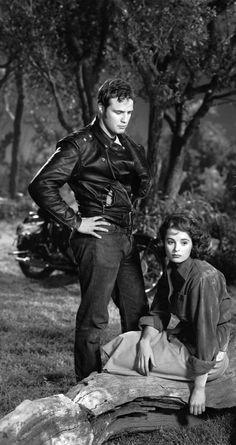 The Wild One. Marlon Brando, Mary Murphy 1953. Brando Outfit Leather Biker…