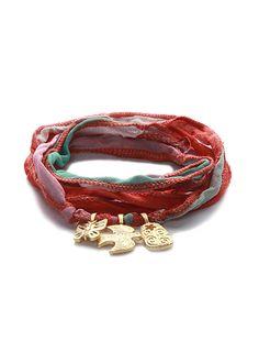 #Silk wrap #bracelet
