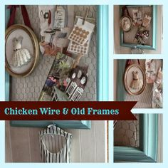 Awesome project using cool paint, old chicken wire and a staple gun!