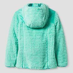 Girls' Rbx Monkey Fleece Jacket with Hood XL - Mint (Green)