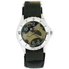 Boxx Gents Teenagers Analogue Green Army Camouflage Velcro Strap Sport Watch