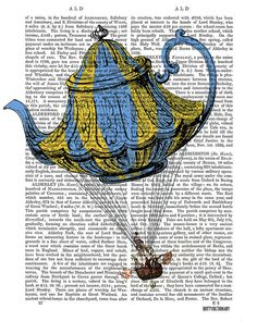 Flying Teapot prints No3 Balloon Illustration by DottyDictionary, $15.00