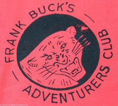 Frank Buck Antique Scarf Autograph Bring Back Alive Adventurers Club Red